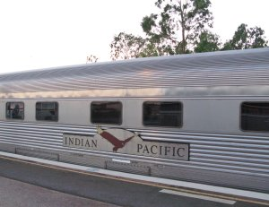 Passenger car on the Indian Pacific