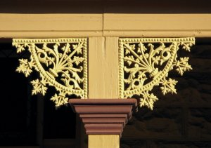 Wrought iron lace work in Broken Hill