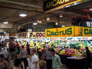 Market scene in Adelaide