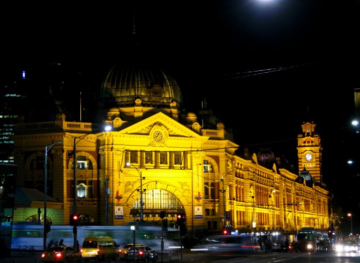 The Central Train Station in Melbourne