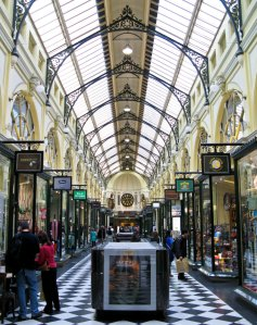 An arcade in Melbourne