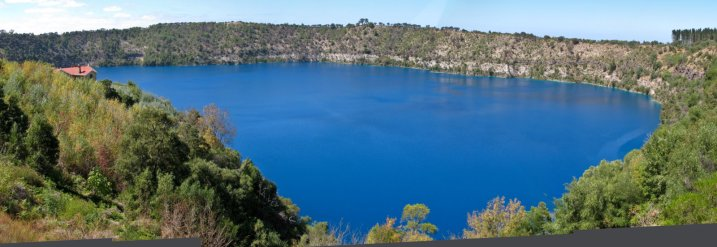 Blue Lake in Mount Gambier--we wonder how it got its name.