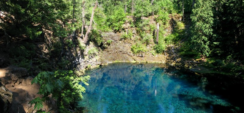 The river reemerges in The Blue Pool