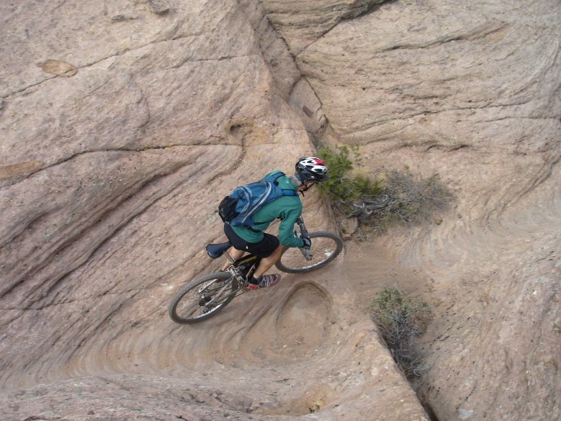 Brian riding Gooseberry Mesa