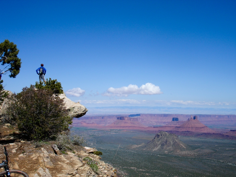 Dan, surveying the land from the MPS trail, Moab