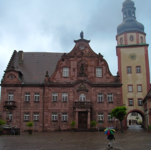 The town hall, or rathaus, in Ettlingen