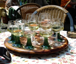 A carousel of wines from the Rhine region