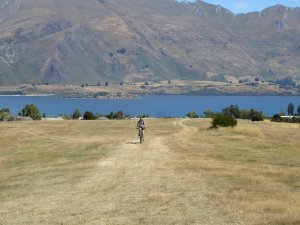 On the way to the trails in Wanaka