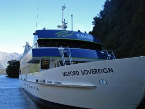 Our boat for the Milford Sound tour