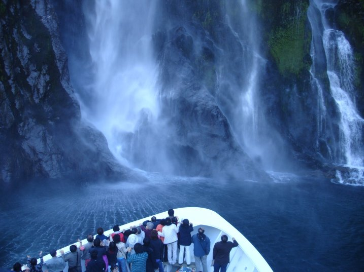 Bowen's (?) waterfall on Milford Sound
