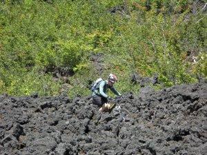 Brian winding through the lava
