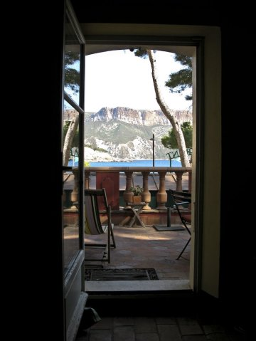 View from the room in Cassis