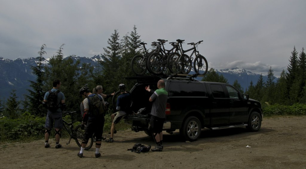 The Crew reports for action 3000 feet above Squamish