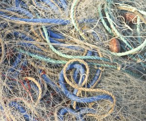 Fisherman's nets in Cassis