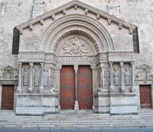 The doors of  St. Trophime in Arles