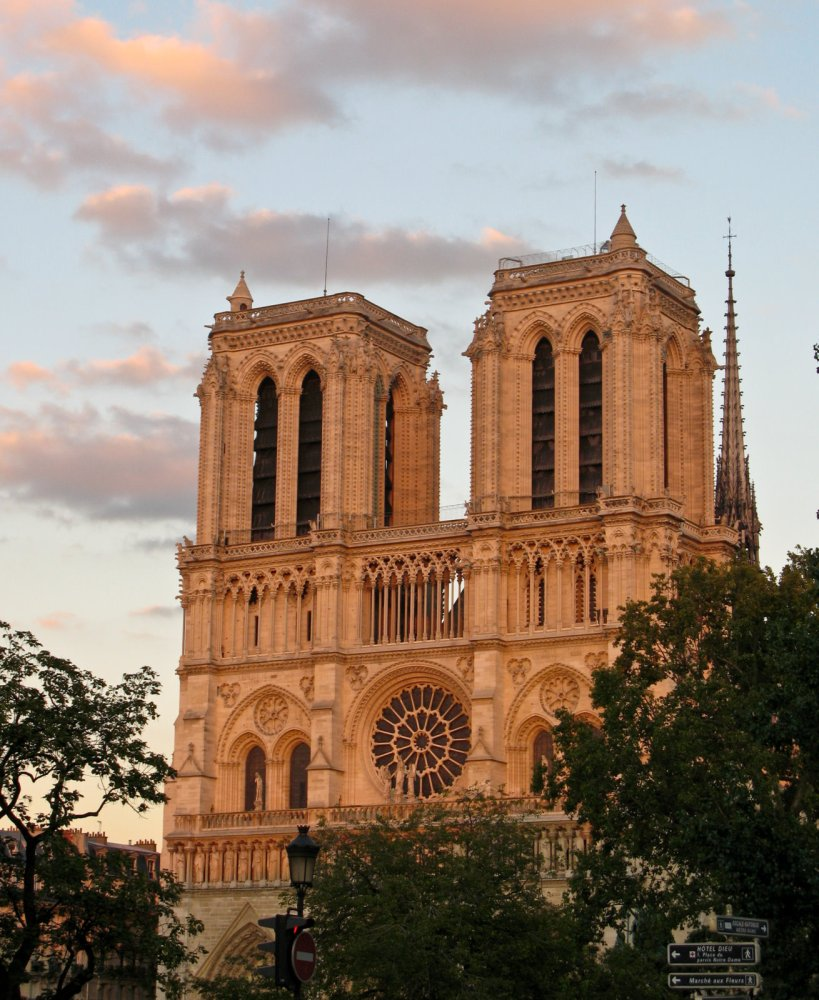 Notre Dame in the evening light