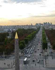 Champs d'Elysees and the Arc de Triomphe in the distance