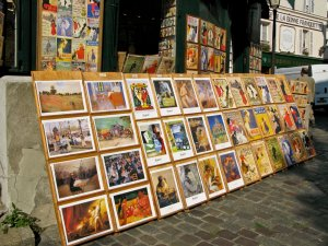 Art for sale in Montmartre