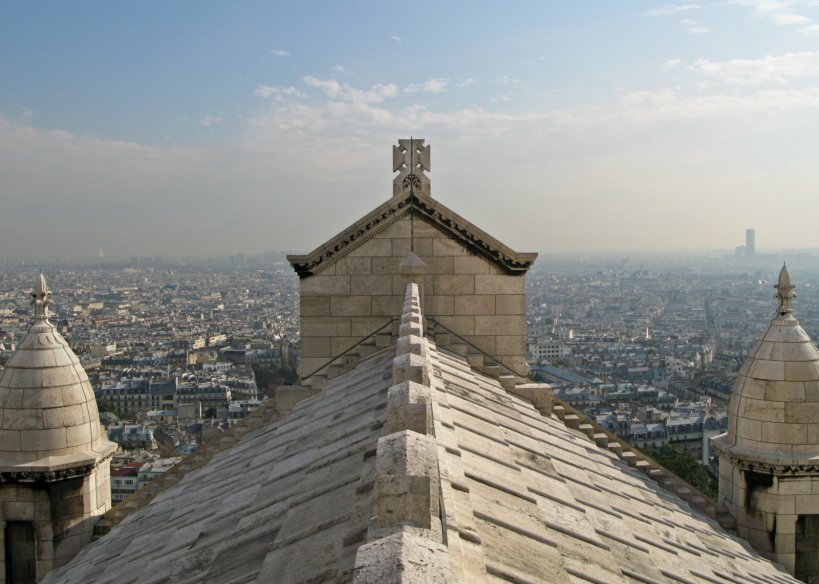 Thw spine of Basilique du Sacré-Cœur in Paris
