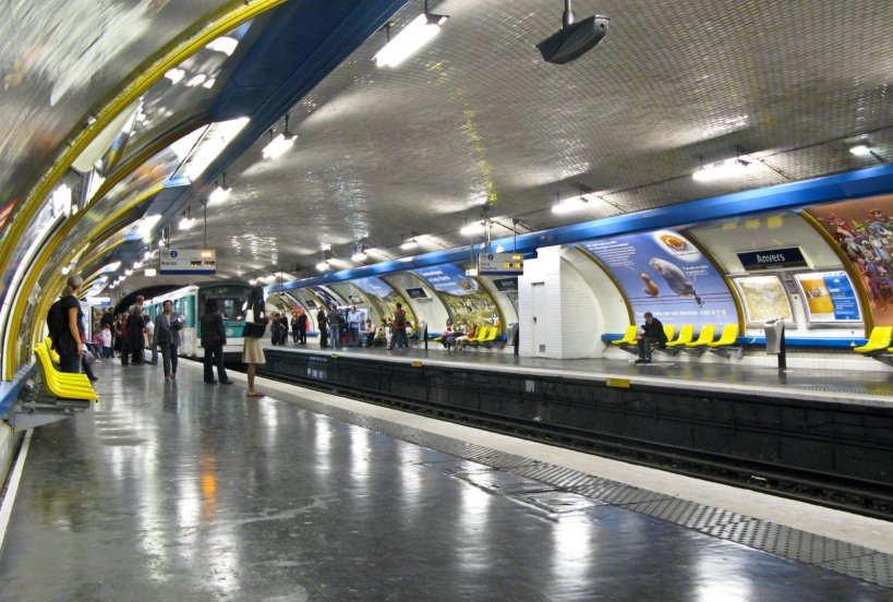Inside the Paris Metro, Anvers station