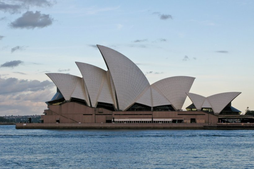 The Opera House at dusk