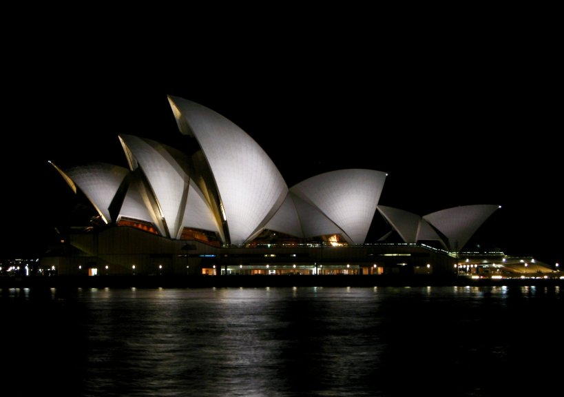 The Opera House at night