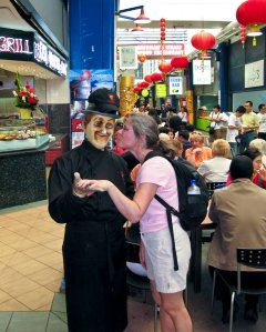 Becky hooking up with yet another stiff at the Fish Market