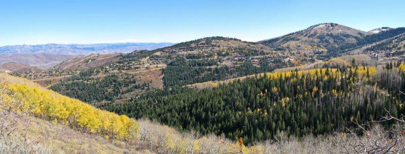 Panorama looking towards Deer Valley