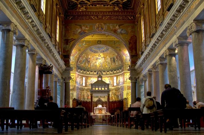 Santa Maria in Trastevere (HDR processed)