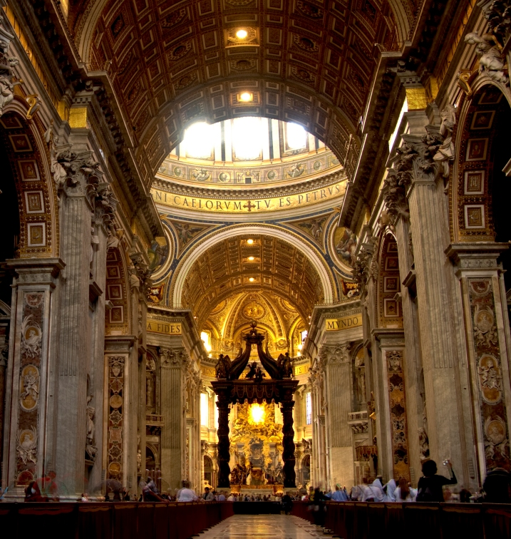 St. Peter's Basilica in the Vatican City (HDR)