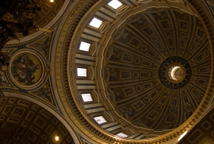 The Dome of San Pietro, designed by Michelangelo
