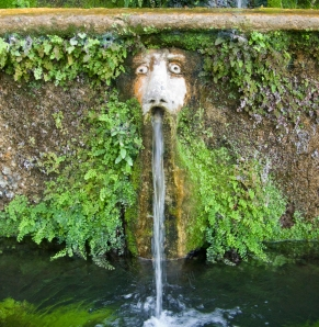 A fountain from the Terrace of 100 Fountains at Villa d'Este