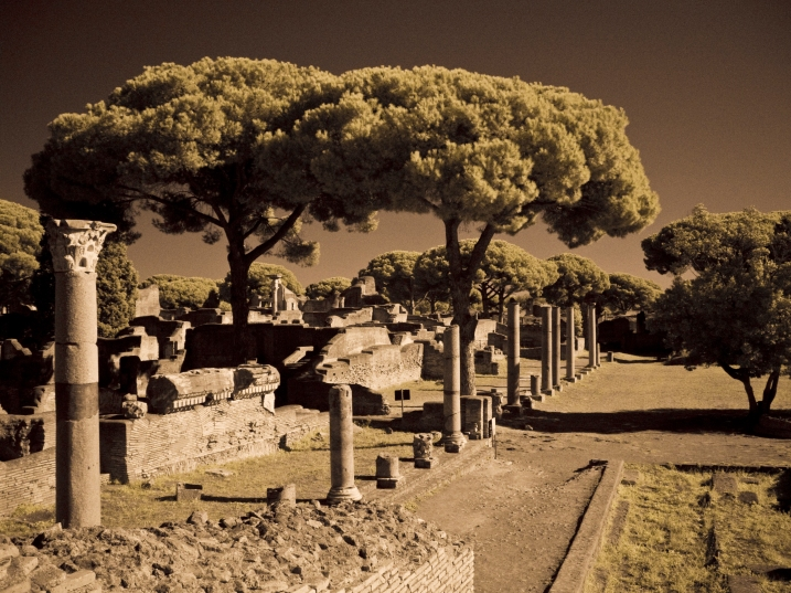 Ostia Antica through an IR filter with a little Photoshop
