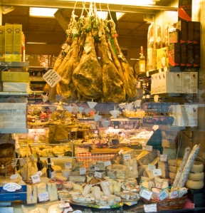 Store front offerings at E. Volpetti, a noted Roman deli