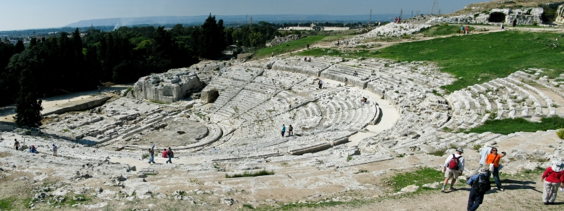 The ancient Greek theater in Syracuse