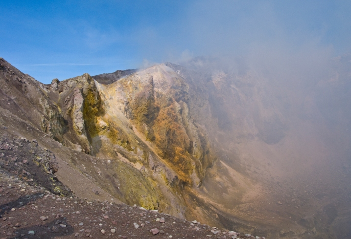 The view into the crater