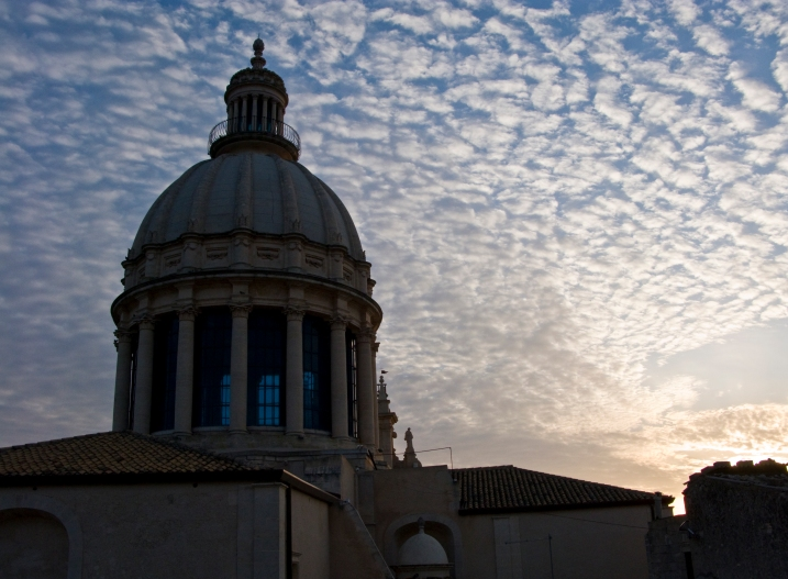 The Duomo in Ragusa Ilba at dawn