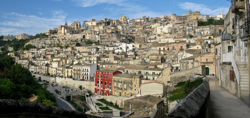 Ragusa Superiore in the morning light