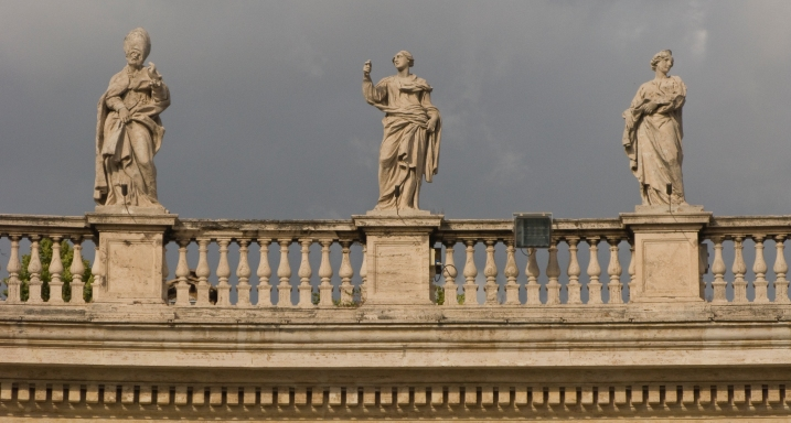 Statues at the Vatican in Rome