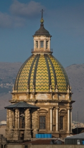 A church dome in Palermo