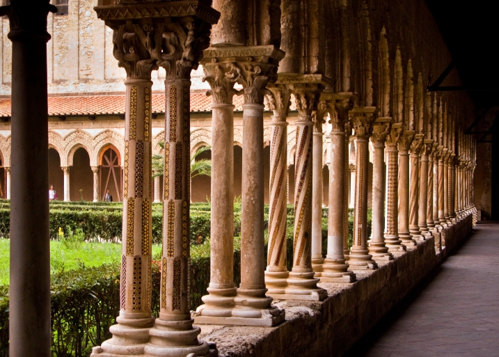 The cloister at Monreale
