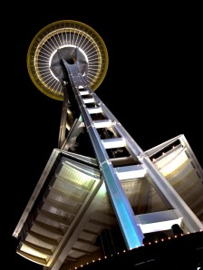 The Space Needle at night (HDR)