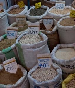 Dry goods at Mercado Vega in Santiago