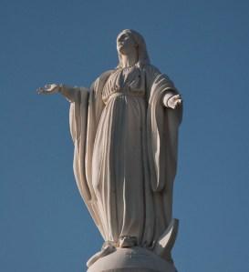 The statue of the Virgen de la Inmaculada Concepcion on Cerro San Cristobal in Santiago