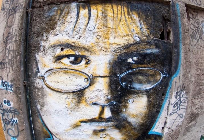 Street art in Cerro Alegre, Valparaiso