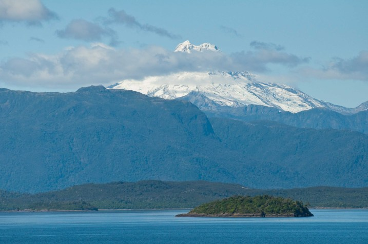 A volcano along the Patagonian channels