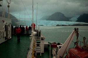 The Skua Glacier under poor light conditions