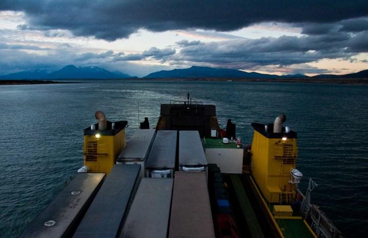 The setting Sun in Puerto Natales