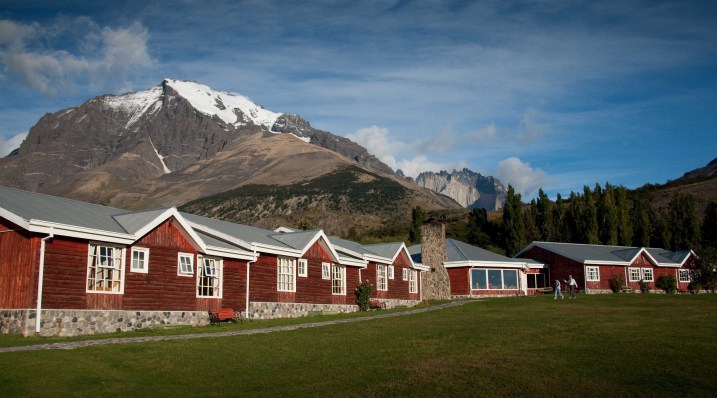 Hosteria Las Torres at the base of the granite massif of Torres del Paine