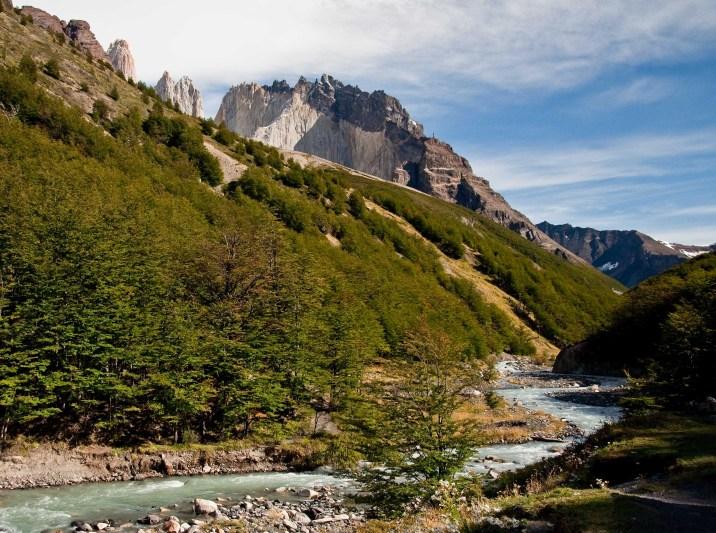 Rio Ascencio from Refugio Chieno